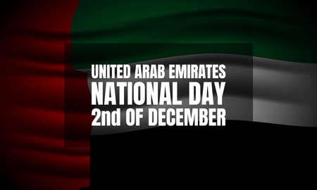 United Arab Emirates National Day Background. Vector Illustration.