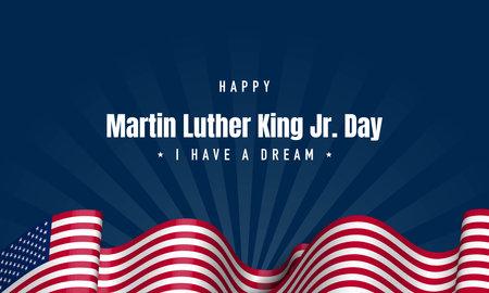 Martin Luther King Jr. Day Background. I Have A Dream. Vector Illustration. Illustration