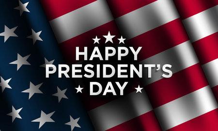 President's Day Background Design. Banner, Poster, Greeting Card. Vector Illustration. Ilustração Vetorial