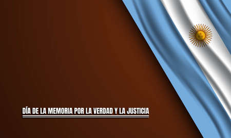 The Day of Remembrance for Truth and Justice Background Design. Translate : The Day of Remembrance for Truth and Justice. Vector Illustration. Vecteurs