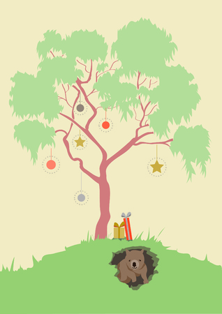 gum tree: Australian Christmas Illustration