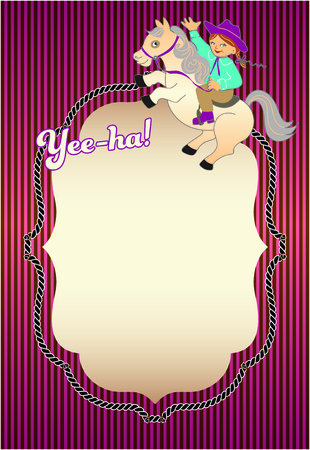 birthday party: Pony girl Birthday Party invite