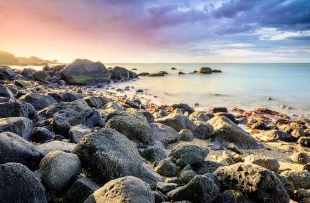Albion Mauritius coast Stock Photo