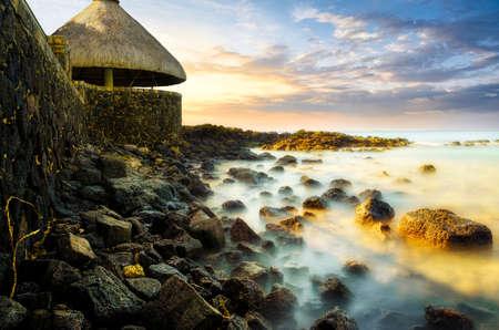 mauritius: Mauritius sunset Stock Photo