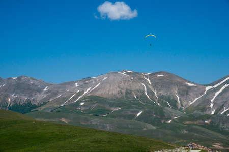 Italian mountain village Castelluccio