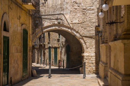 Narrow street. Bari, Puglia, Italy. Stock Photo