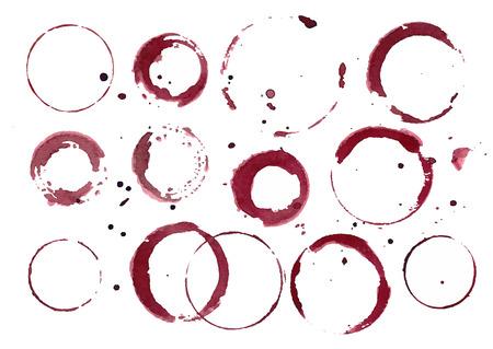set of wine stains. Reklamní fotografie - 42347661