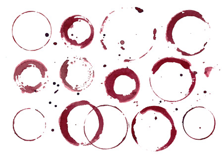 wine stains: set of wine stains.