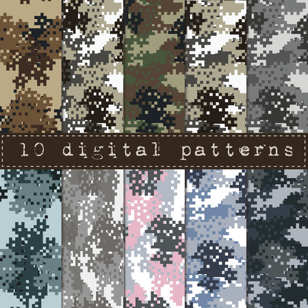 Camouflage seamless pattern Banco de Imagens - 42584287