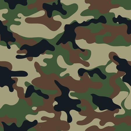 Leger militaire camouflage naadloze pattern.Can worden gebruikt voor de achtergrond ontwerp, militair textiel. Stock Illustratie