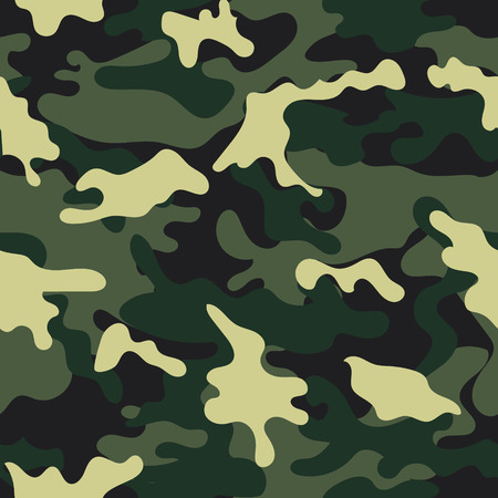 Army military camouflage seamless pattern.Can be used for background design, military textile. Çizim