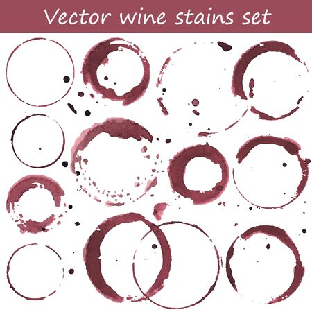 Vector set of wine stains.
