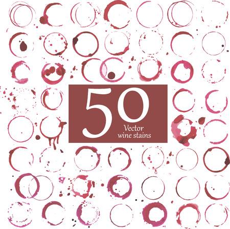 vino: Vector conjunto de manchas de vino.