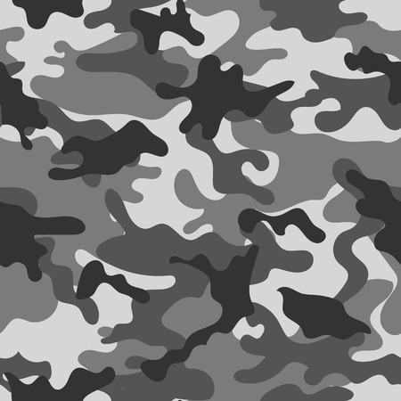 Army military camouflage seamless pattern.Can be used for background design, military textile. Stock Illustratie