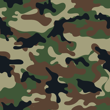 Army military camouflage seamless pattern.Can be used for background design, military textile. Vettoriali