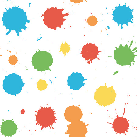 Vector seamless pattern with blots and splashes. Seamless pattern can be used for wallpaper, pattern fills, web page background,surface textures. Illustration