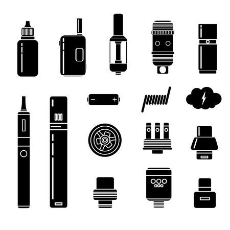 Vector Set of Vape Line Icons. Illustration