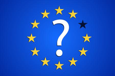 sortie Brexit Grande-Bretagne UE europe image relative. Brexit nommé processus politique. Vecteurs