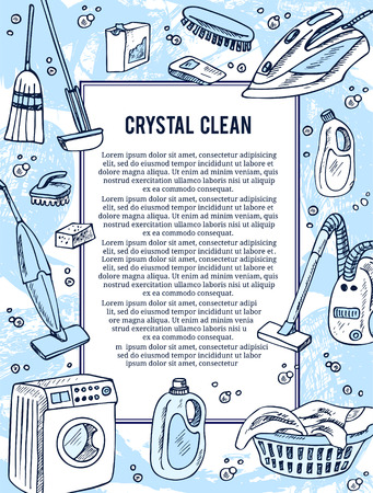bleached: Laundry banners or flyer set for laundry service. Good as a template of advertisement or invitation. Vector illustration