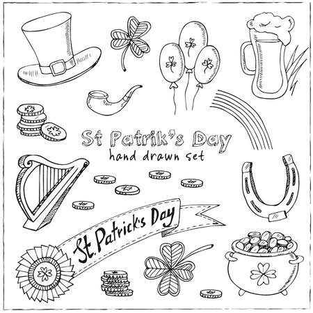 St. Patrick s Day set. Vector illustration Illustration