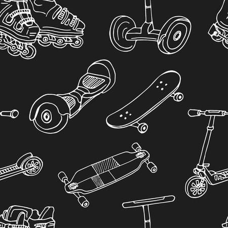 スポーツ用品 ハンド描きの落書きセット。ベクトルイラスト。白い背景に分離された要素。