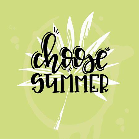 Summer lettering ypographic design. Vector illustration.