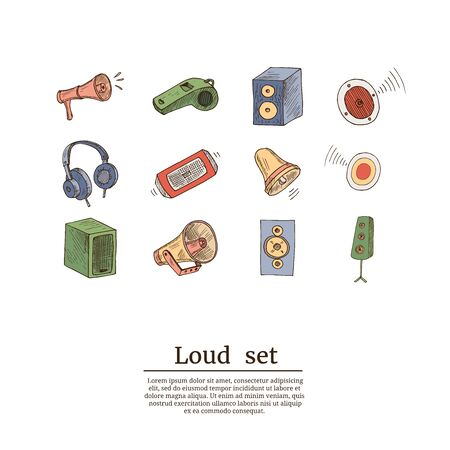 Music line icons. Set of Acoustic guitar, Musical note and Vinyl record linear icons. Jazz saxophone, Drums with drumsticks and DJ controller symbols. Sound check and Music making. Vector Reklamní fotografie - 140643584