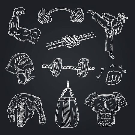 Dumbbell, icon set. Collection icons of dumbbells various forms, linear design. lines with editable stroke Reklamní fotografie - 140643687
