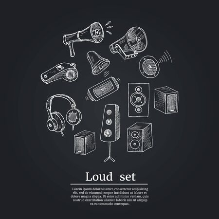 Music line icons. Set of Acoustic guitar, Musical note and Vinyl record linear icons. Jazz saxophone, Drums with drumsticks and DJ controller symbols. Sound check and Music making. Vector Reklamní fotografie - 140643698