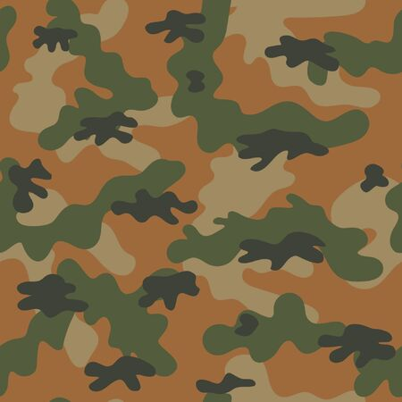 Camouflage military seamless pattern. Vector illustration