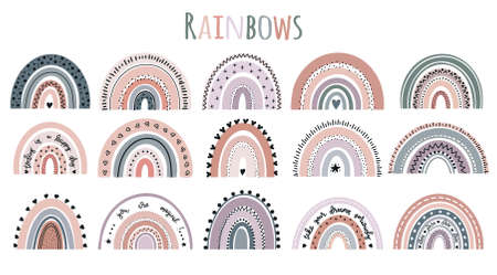 Pretty Rainbows baby vector illustration Ilustrace