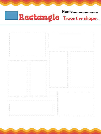 Learn shapes and geometric figures. Preschool or kindergarten worksheet. Vector illustration. Vector illustration Ilustrace