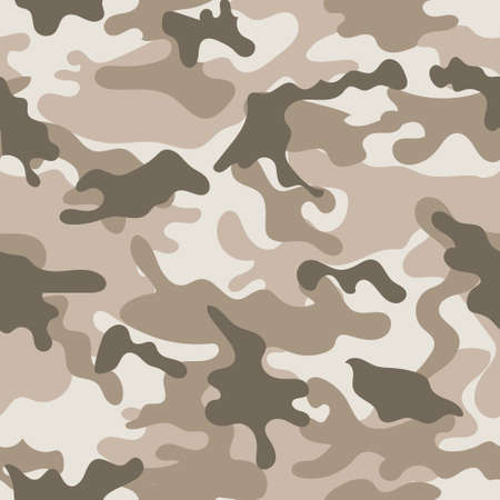 Seamless set of camouflage desert pattern vector. Ilustracje wektorowe