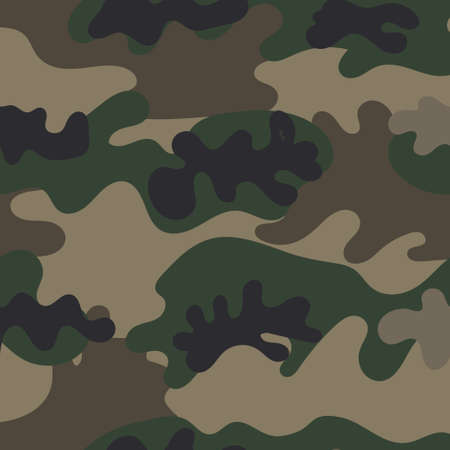 Seamless set of camouflage desert pattern vector. Ilustrace