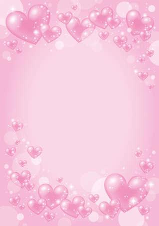 Valentine Design with pink heart