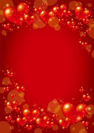 Valentine Design with red heart