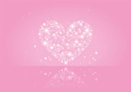 pink shining heart