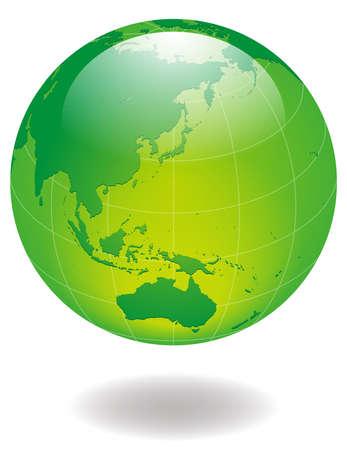 green glossy Earth