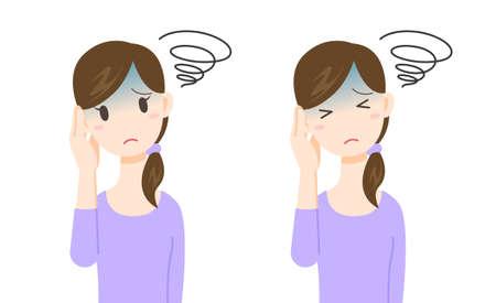 dolor de oido: ilustración-dolor de cabeza