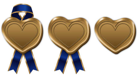 sigil: heart wax seal with ribbon