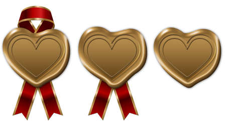heart wax seal with ribbon