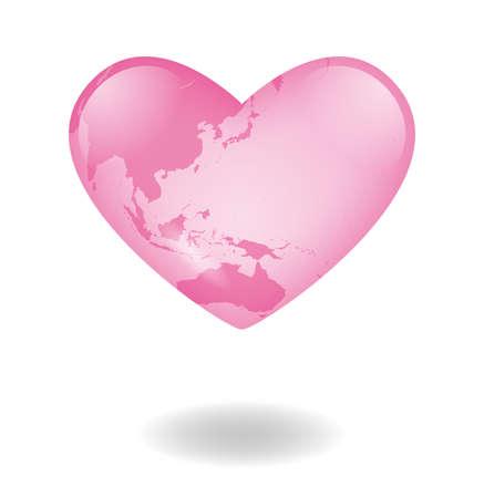 illustration-heart earth