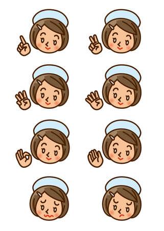 nurse, face, icon