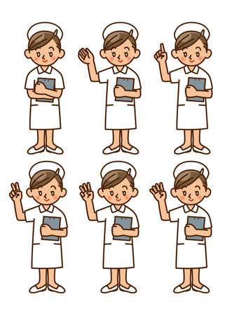 nurse, pose, set Stock Photo