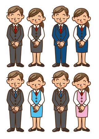 businesswoman suit: hombre de negocios, mujer de negocios, traje, actitud, juego