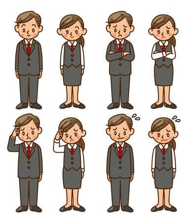 businesswoman suit: hombre de negocios, mujer de negocios, juego, actitud, ajuste