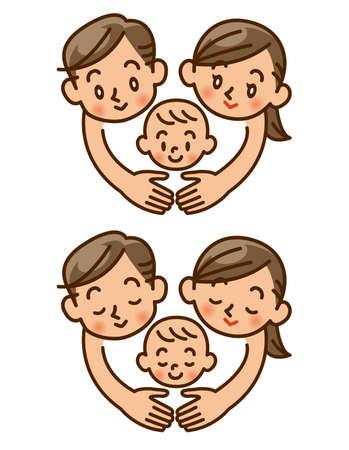 family, love, baby Stock Photo