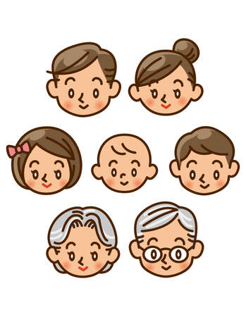family, home, face, icon Stock Photo