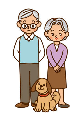old couple, pet