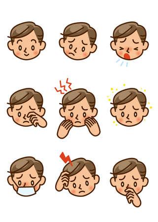 allergy, symptom, man Stock Photo